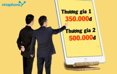 Goi cuoc VinaPhone Thuong gia voi 4300 phut goi va dung luong 3G khung len den 9 Gb